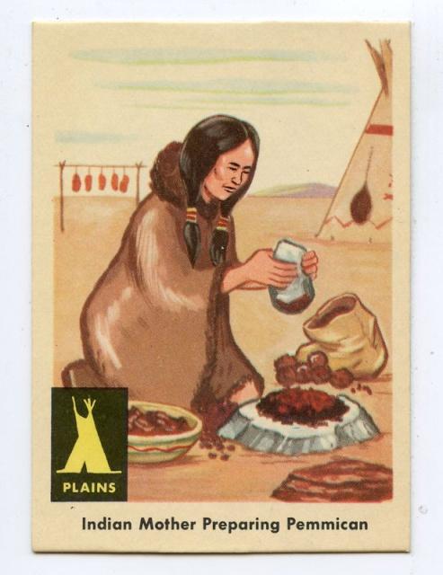 Женщина готовит пеммикан