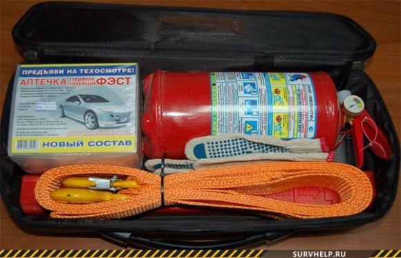 аптечка и огнетушитель для дома