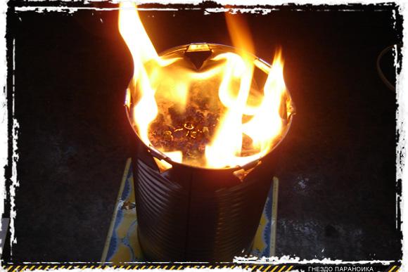 Свеча из опилок и парафина
