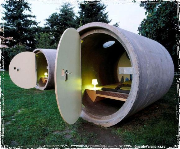 Убежище в бетонной трубе