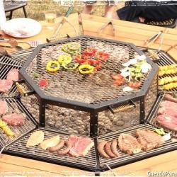 Обеденный стол гриль-барбекю
