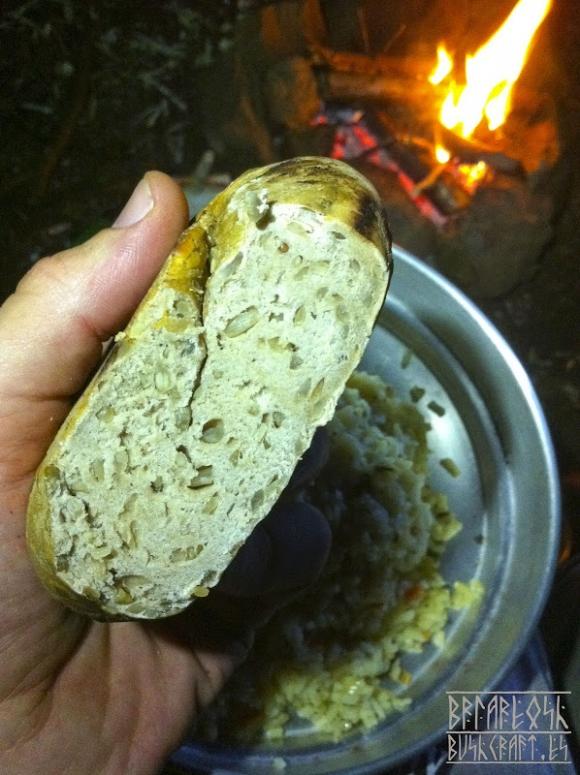 Походный хлеб-лепёшка с семечками
