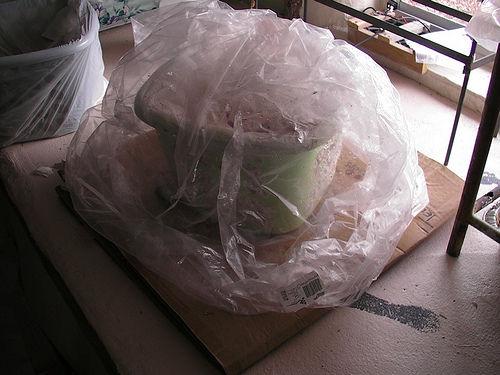Выращивание грибов в корзине